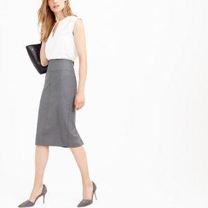 J.Crew Super 120s Wool Director Pencil Skirt, grey